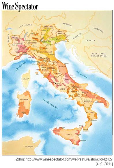 Italie Vinarske Regiony Wineworld Cz